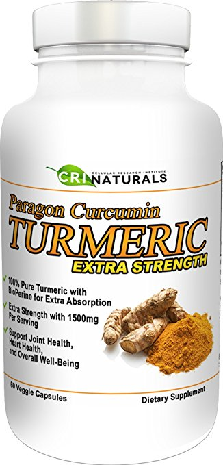 Image of a bottle of CRI Naturals Paragon Turmeric Curcumin Extra Strength