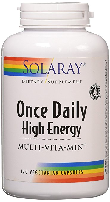 Image of a bottle of Solaray Once Daily High Energy