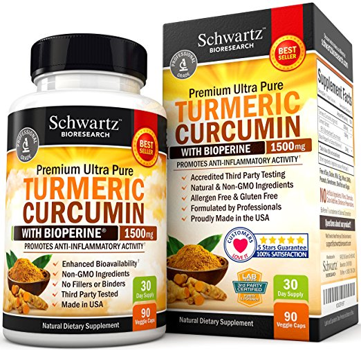 Image of a bottle of Schwartz Bioresearch Turmeric Curcumin