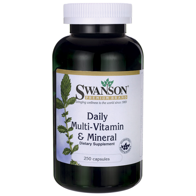 Image of a bottle of Swanson Daily Multivitamin