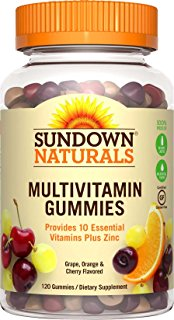 Image of a bottle of Sundown Naturals Multivitamin Gummies