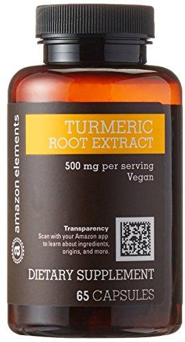 Image of a bottle of Amazon Elements Turmeric Root Extract