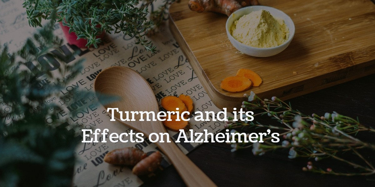 Image of turmeric on a table with some other spices as a cover image for article on turmeric and its effects on Alzheimer's disease