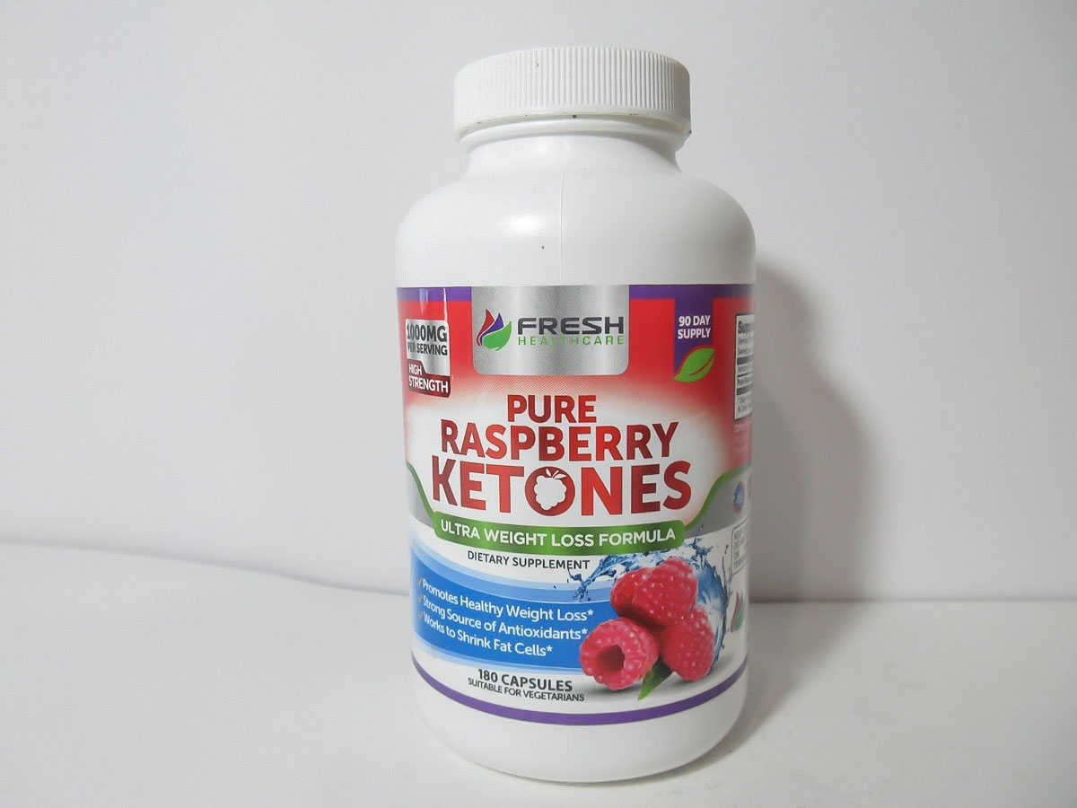 Photo of a bottle of Fresh Healthcare Raspberry Ketones