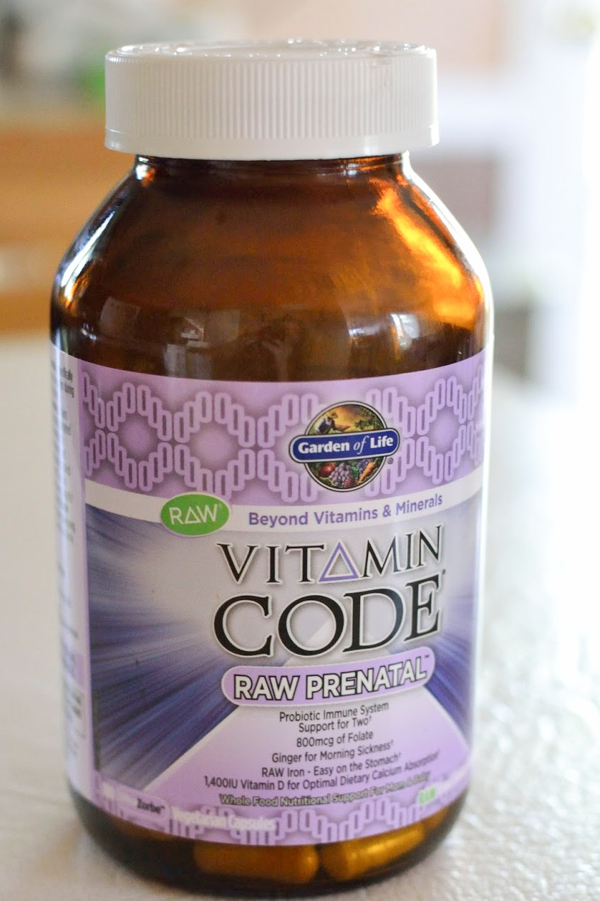 Image of a bottle of Garden of Life Vitamin Code Raw Prenatal