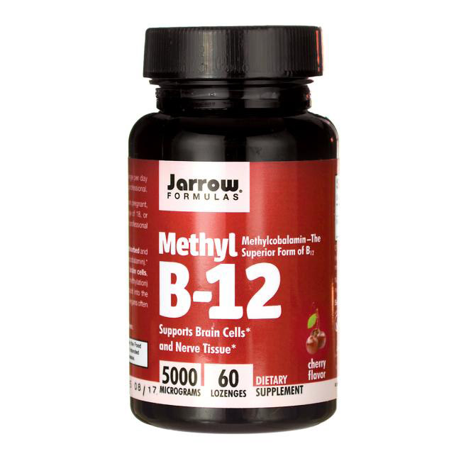 Image of a bottle of Jarrow Formulas Methyl B-12 Supplement