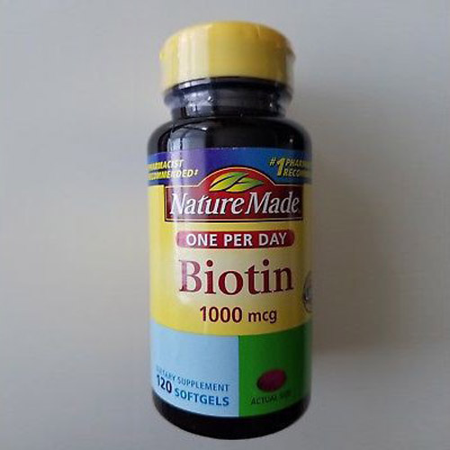 Image of NatureMade biotin softgels