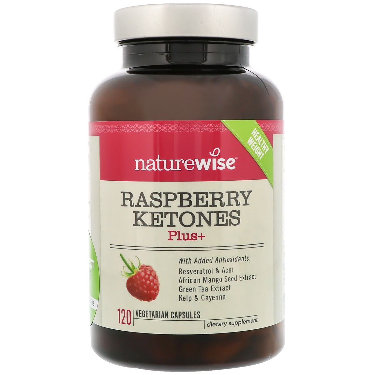 Image of a bottle of NatureWise Raspberry Ketones