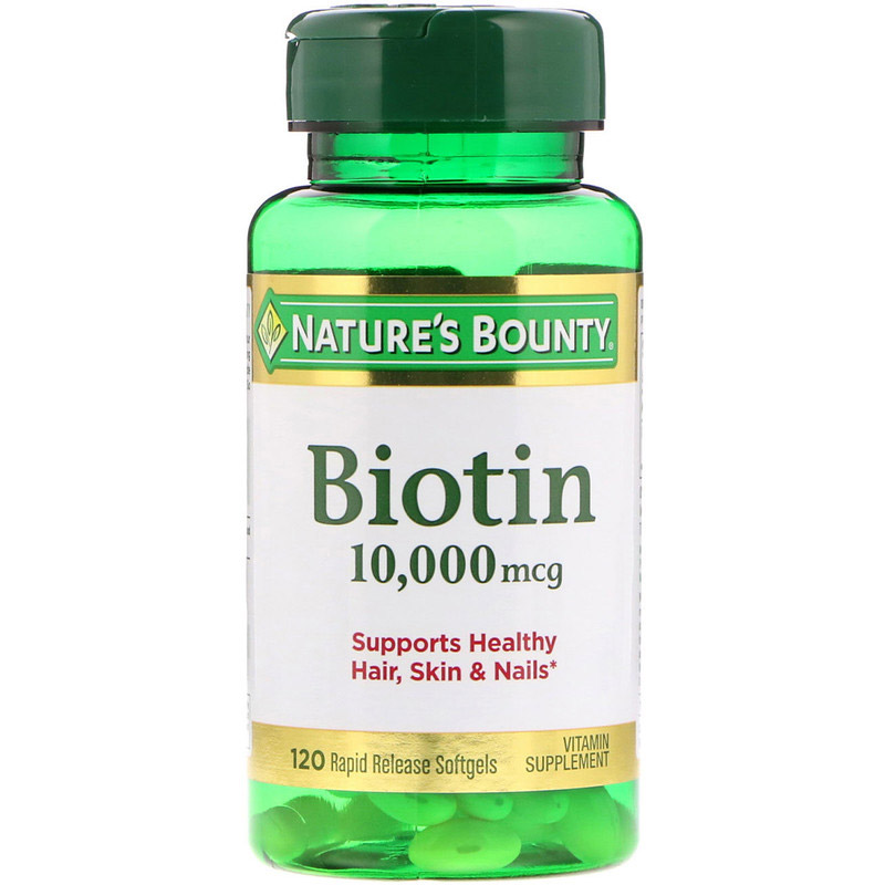 Image of a bottle of Nature's Bounty Biotin