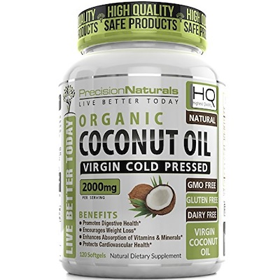 Image of a bottle of PrecisionNaturals coconut oil