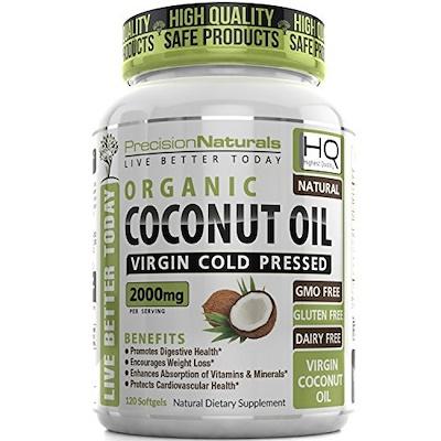 Image of a bottle of PrecisionNaturals coconut oil
