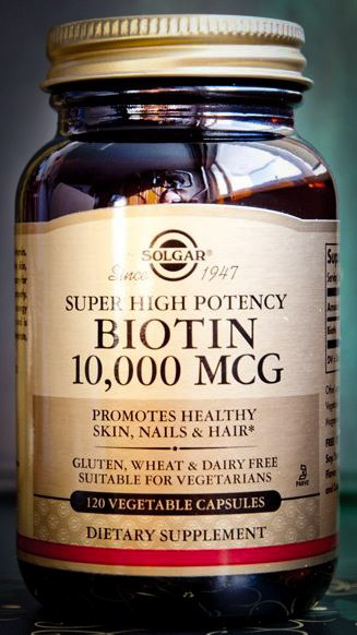 Image of Solgar Super High Potency Biotin 10,000 mcg