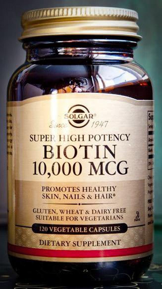 Image of Solgar Super High Potency Biotin 10,000 mcg