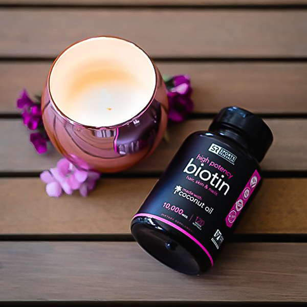 Image of our pick for the best biotin supplement on the market, Sports Research 2500mcg Biotin