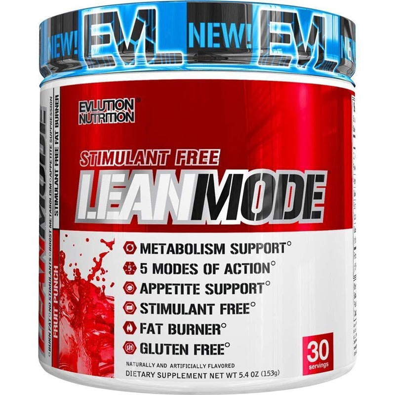 Image of a bottle of Evlution Nutrition Lean Mode Stimulant-Free Weight Loss Supplement