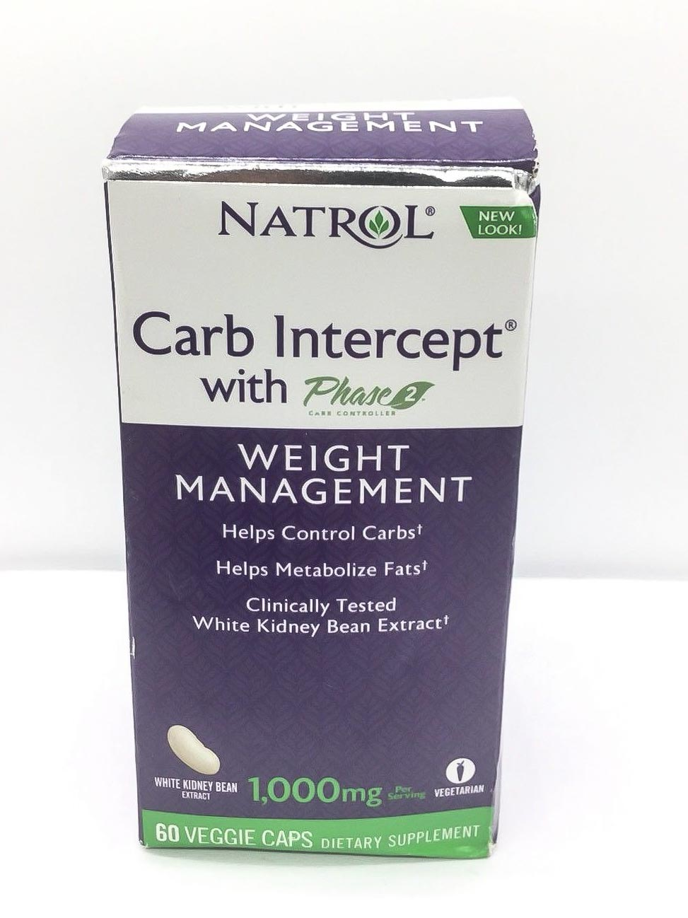 Image of a box of Natrol Carb Intercept With Phase 2