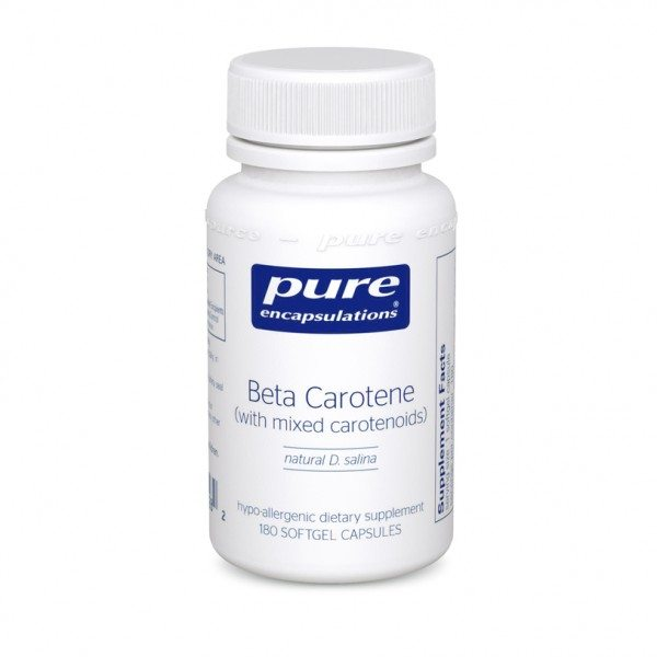 Image of a bottle of Pure Encapsulations Beta Carotene (Vitamin A)