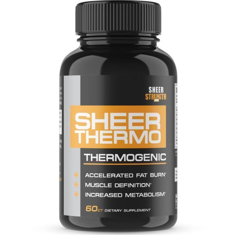 Image of a bottle of Sheer Strength Sheer Thermo Thermogenic Fat Burner Supplement