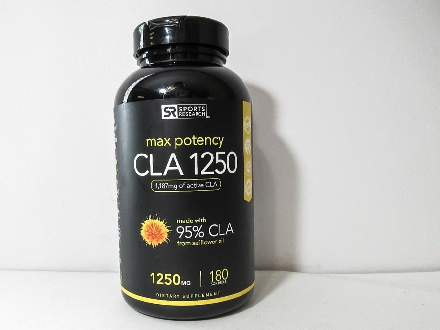 Image of a bottle of Sports Research Max Potency CLA 1250
