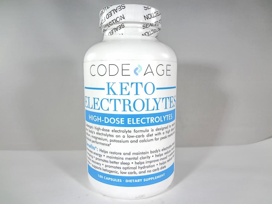 Image of a bottle of Code Age Keto Electrolytes