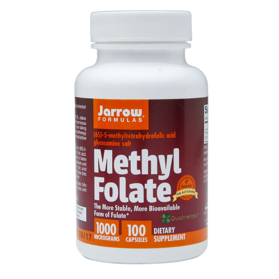 Image of a bottle of Jarrow Formulas Methyl Folate supplement
