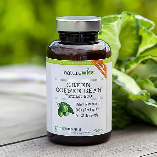 Image of a bottle of NatureWise Green Coffee Bean Extract 800