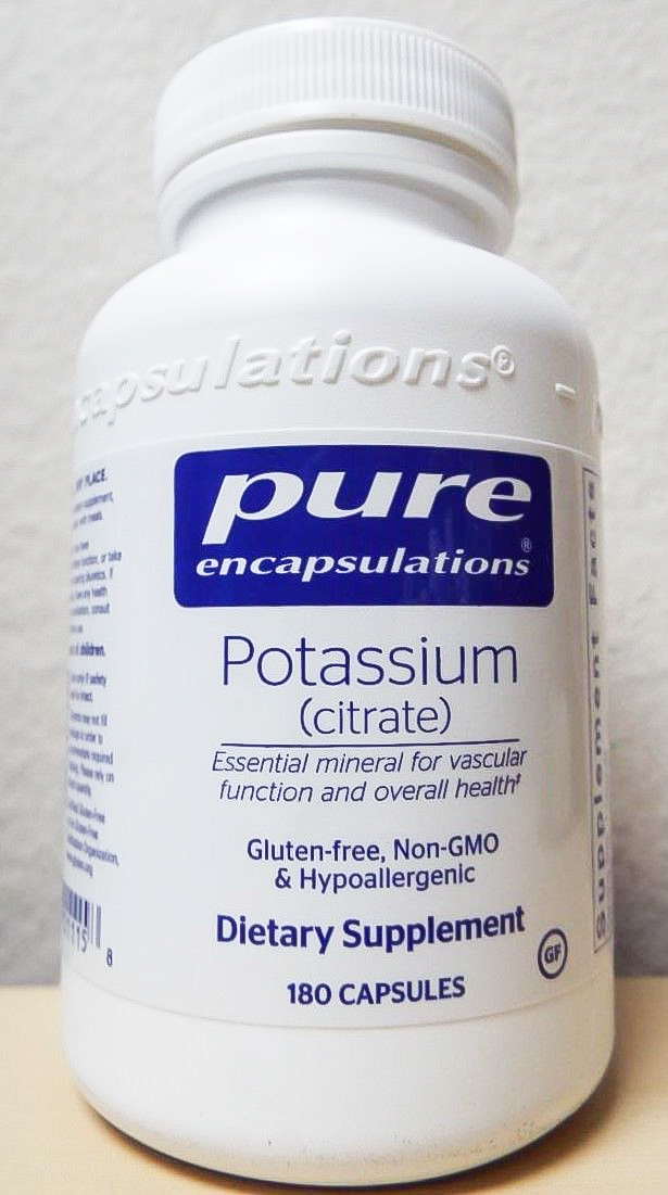 Image of a bottle of Pure Encapsulations Potassium Citrate