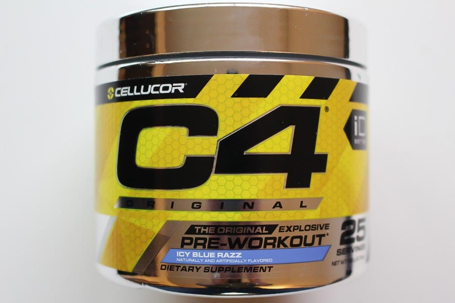 Image of a container of Cellucor C4, the best tasting pre-workout supplement