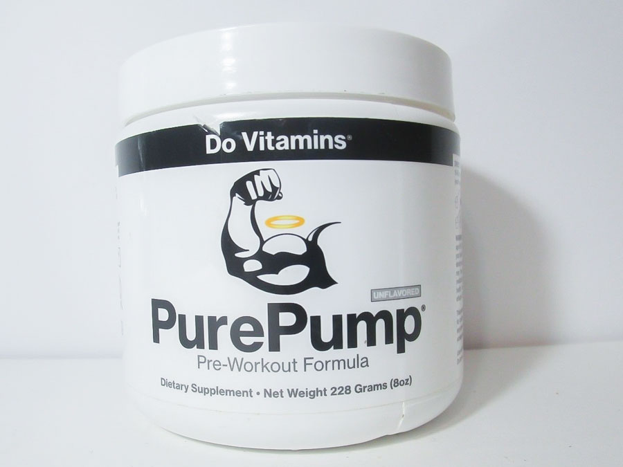 Image of a bottle of Do Vitamins PurePump Pre-Workout Formula, the best pre-workout supplement for pump