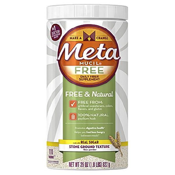 Image of a bottle of the best daily fiber supplement, Metamucil Daily