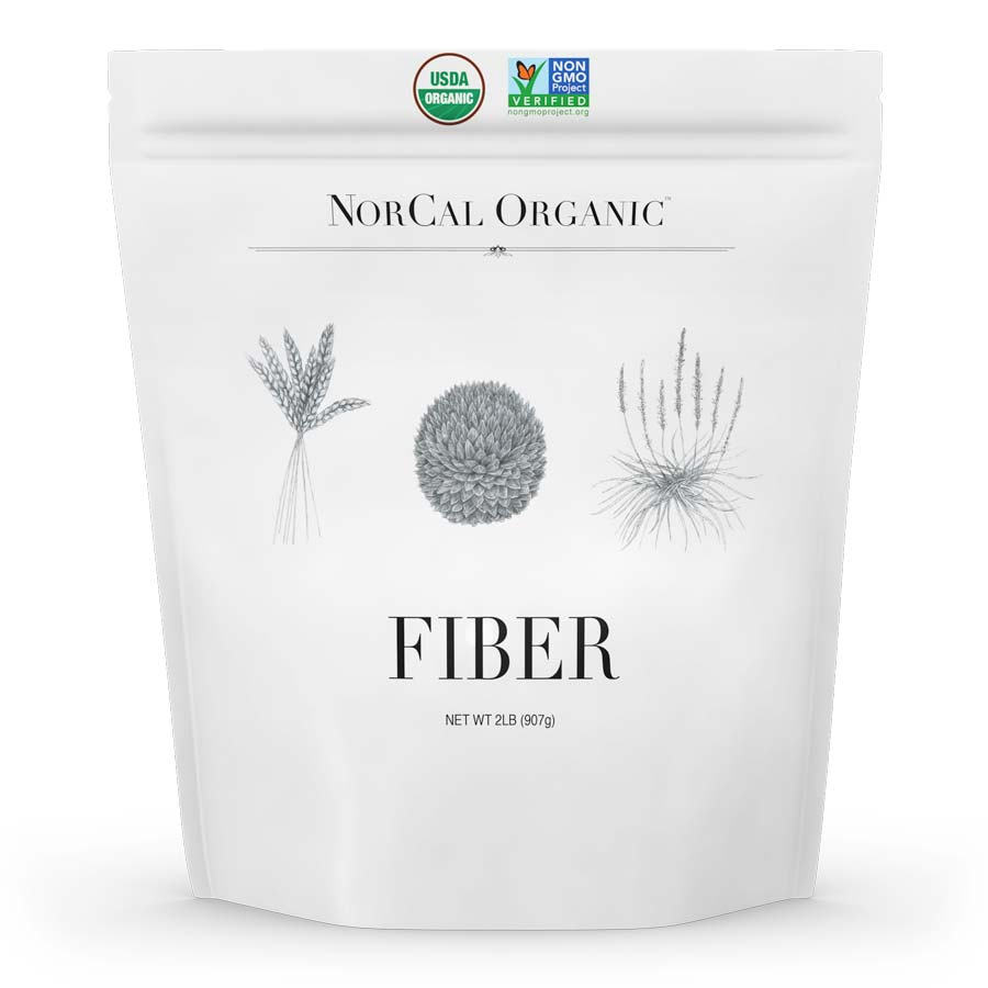 Image of a package of the best organic fiber supplement, NorCal Organic Fiber