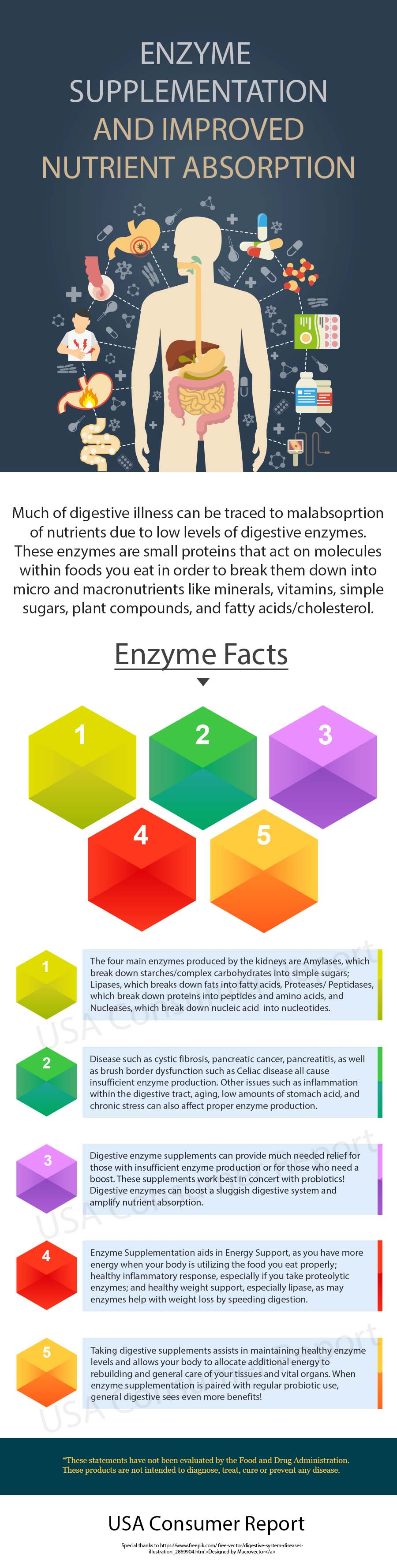 Infographic about the benefits of enzyme supplementation