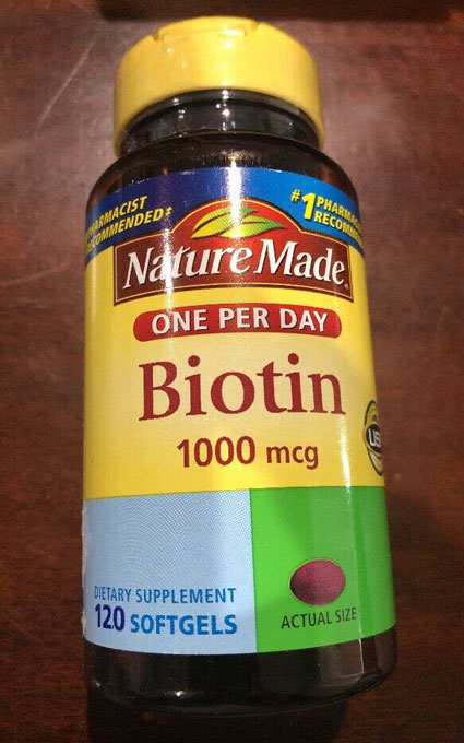 Image of a bottle of NatureMade One Per Day 1000 mcg Biotin