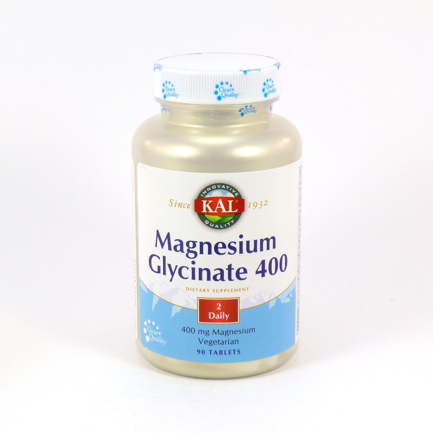 Image of a bottle of KAL Magnesium Glycinate 400