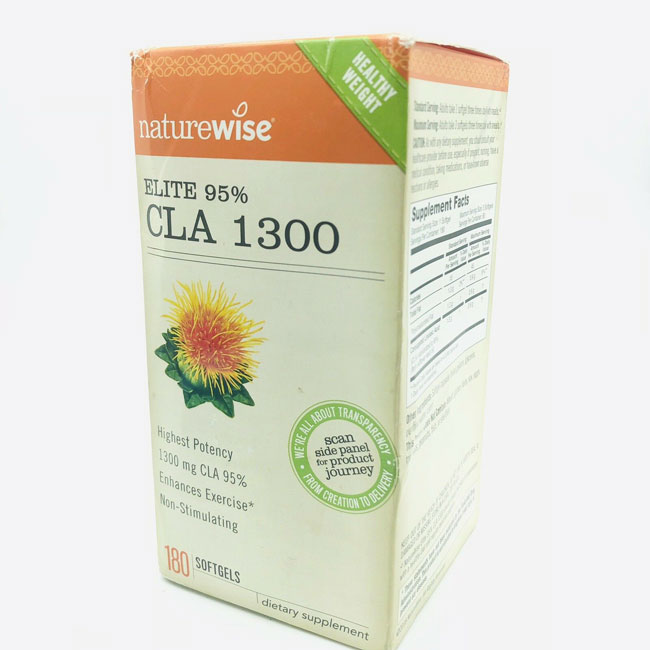 Image of a box of NatureWise Elite 95% CLA 1300 supplement