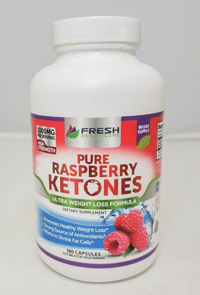 Image of a bottle of Fresh Healthcare Pure Raspberry Ketones