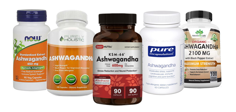 Image of the best ashwagandha supplements on the market