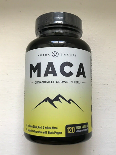 Image of a bottle of Nutra Champs Maca