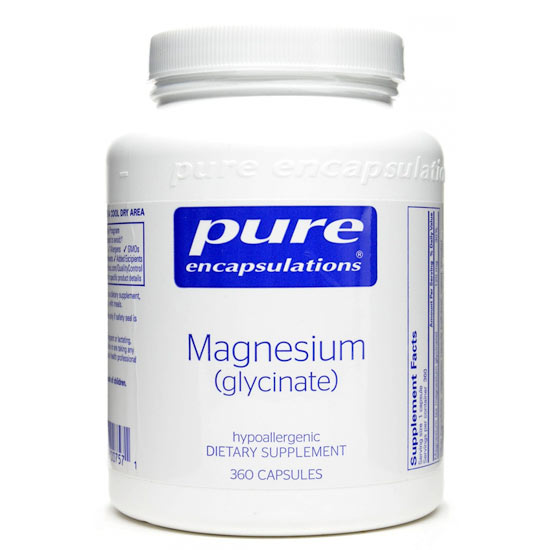 Image of a bottle of Pure Encapsulations Magnesium Glycinate with 360 capsules