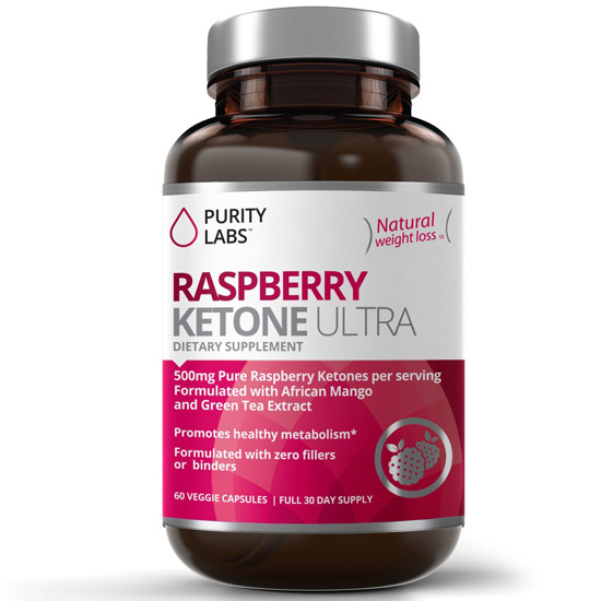 Image of a bottle of Purity Labs Raspberry Ketone Ultra