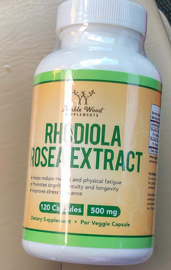 Image of a bottle of Double Wood Supplements Rhodiola Rosea Extract