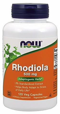 Image of a bottle of Now Rhodiola